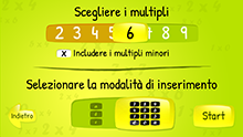 sCool Math - Start Screen